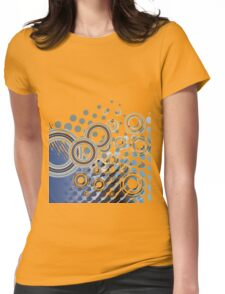 Abstract Digital Blue Bubbles Womens Fitted T-Shirt