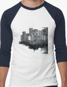 Abstract Digital Urban Setting Men's Baseball ¾ T-Shirt