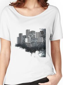 Abstract Digital Urban Setting Women's Relaxed Fit T-Shirt