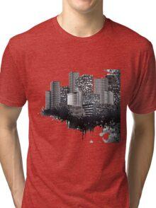 Abstract Digital Urban Setting Tri-blend T-Shirt
