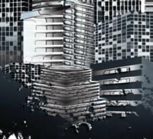 Abstract Digital Urban Setting Sticker
