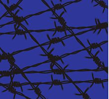 Barbed Wire [Blue] by Chillee Wilson by ChilleeWilson