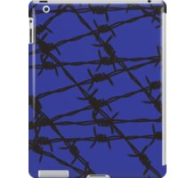 Barbed Wire [Blue] by Chillee Wilson iPad Case/Skin