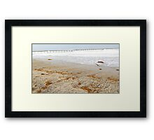 Big Waves, Empty Beach Framed Print