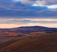 Sunset over Mount Barker Summit - Adelaide Hills by Mark Richards