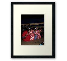 Shan girls dancing - 3 Framed Print