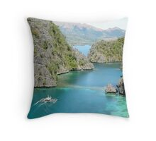 LOOKING OUT my BATCAVE  II  / CORON ISLAND Throw Pillow