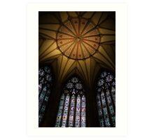 Chapter House Ceiling - York Minster, York Art Print