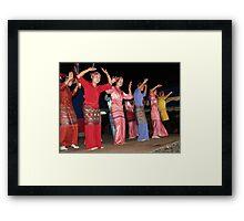 Shan girls dancing - 4 Framed Print
