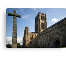Durham Cathedral and The Cross Canvas Print