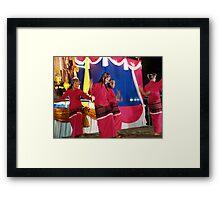 Shan girls dancing - 5 Framed Print