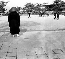 man in miyajima by amber hill