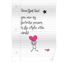 Dear dad! Poster