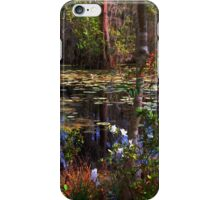 White Azaleas in the swamps of SC iPhone Case/Skin