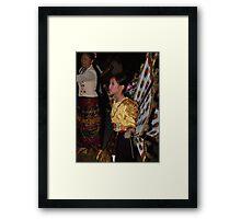 Shan girl in parade Framed Print