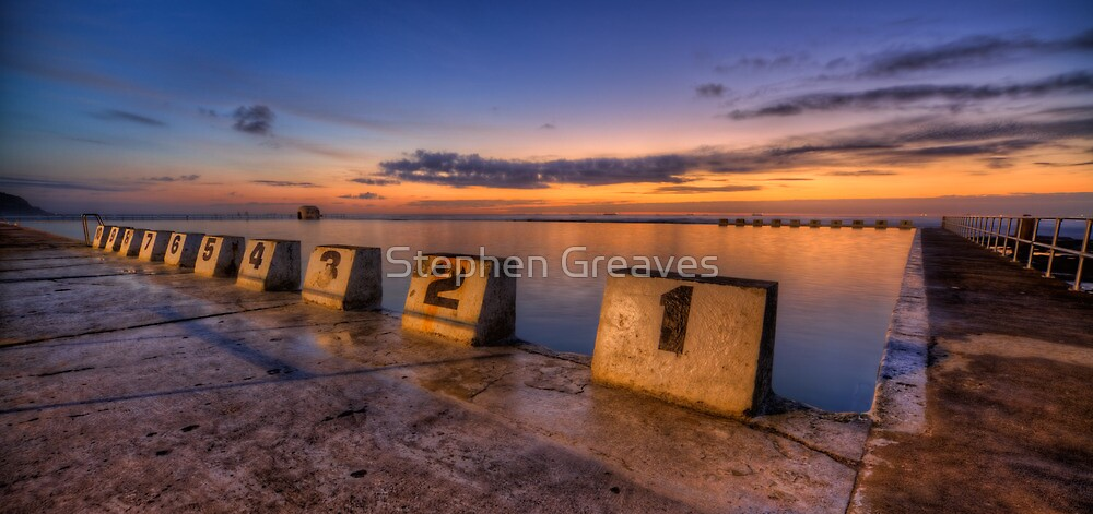 """Merewether Baths, Newcastle - """"Before Sunrise"""" by Stephen Greaves"""