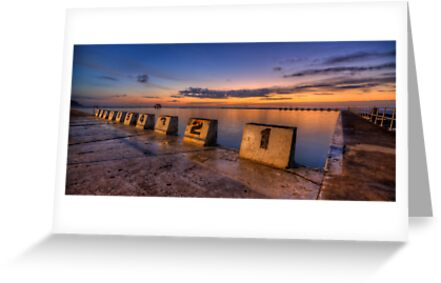 "Merewether Baths, Newcastle - ""Before Sunrise"" by Stephen Greaves"