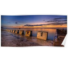 "Merewether Baths, Newcastle - ""Before Sunrise"" Poster"