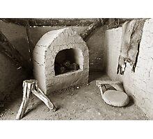 Ancient Hut Interior Photographic Print
