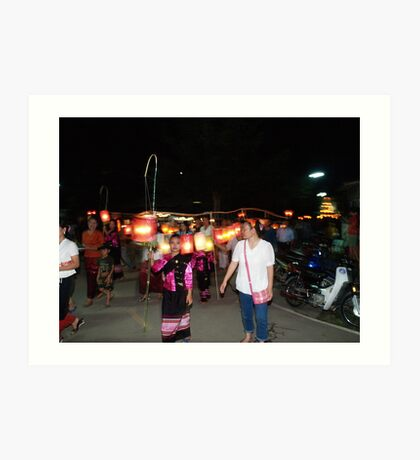 Shan parade at night festival Art Print