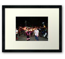 Shan parade at night festival Framed Print