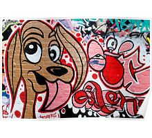Graffiti dog Poster