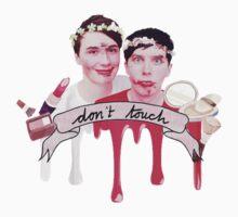 Dan & Phil Blindfold Make-up Challenge Print by cattalack
