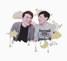 Dan & Phil Kawaii Starry Night Print by cattalack