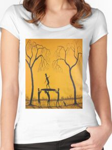 """Ned Kelly's Surfing Practice"" FOR SALE Women's Fitted Scoop T-Shirt"