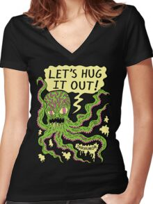 Lets Hug It Out Women's Fitted V-Neck T-Shirt