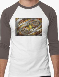 Steampunk - Spiral - Space time continuum Men's Baseball ¾ T-Shirt