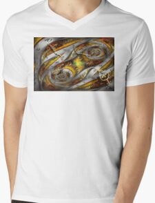 Steampunk - Spiral - Space time continuum Mens V-Neck T-Shirt