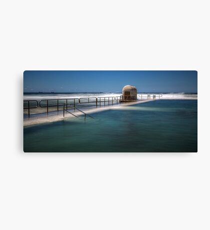 "Merewether Baths, Newcastle - ""Rough Seas"" Canvas Print"