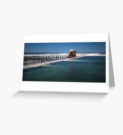 "Merewether Baths, Newcastle - ""Rough Seas"" Greeting Card"