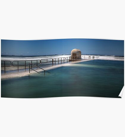 "Merewether Baths, Newcastle - ""Rough Seas"" Poster"