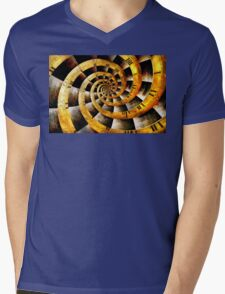 Steampunk - Clock - The flow of time Mens V-Neck T-Shirt