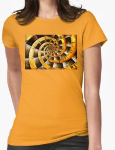 Steampunk - Clock - The flow of time Womens Fitted T-Shirt