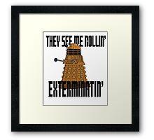 Dalek-millionaire Framed Print