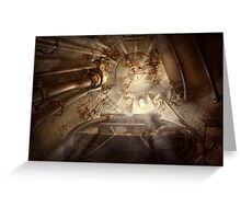 Steampunk - Naval - The escape hatch Greeting Card