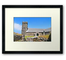 Tintagel Church Framed Print