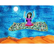 Missy's Magical Flying carpet Photographic Print