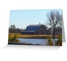 Barn On The Farm North Carolina Greeting Card
