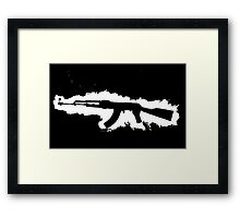 AK-47 Graffiti Framed Print