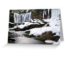 Falls of Elakala in Winter Greeting Card
