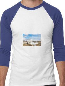 Welsh Blacks on Snowy Mountains Men's Baseball ¾ T-Shirt