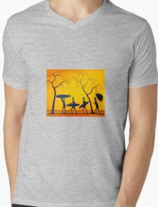 """Let's Go Surfing"" Original Acrylic Painting Australia; SOLD Mens V-Neck T-Shirt"