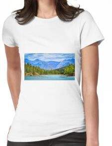 The Bow River - Banff, Alberta, Canada Womens Fitted T-Shirt