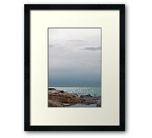 Silver sea, Finestrat Framed Print