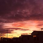 Sunset over the caravans by amylw1