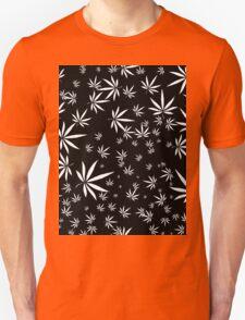 White Marijuana Leaves Unisex T-Shirt